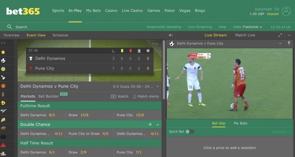 Bet365 live streaming ca